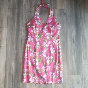 Jones New York Tropical Halter Dress, Size 12
